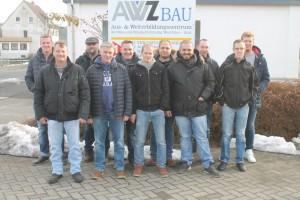 Kursteilnehmer Werkpolier im hoch- und Tiefbau